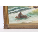 Large Vintage Ornate Framed Oil Painting painted and signed by R. Nardi