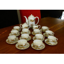 29 Piece Vintage Japanese Porcelain Tea Set with Lithophane Geisha Face and Painted Dragon