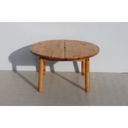 Round Solid Pine Coffee Table