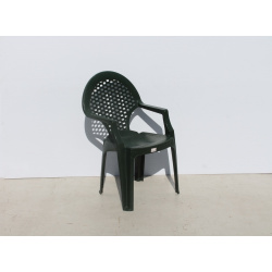 Green Plastic Chair with...