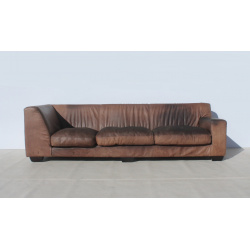 Large Coricraft Leather Couch