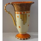 ART DECO HAND PAINTED MYOTT, SON & CO. TRUMPET JUG
