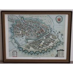 Vintage Town Map of Hamburgum 1643