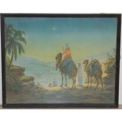 Vintage print of Bethlehem